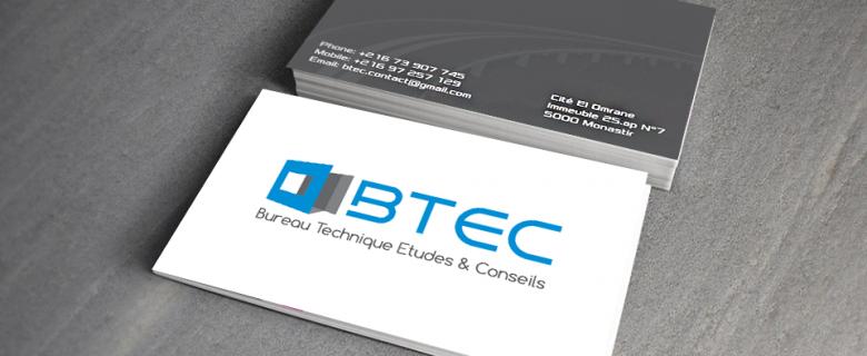 Carte visite de BTEC